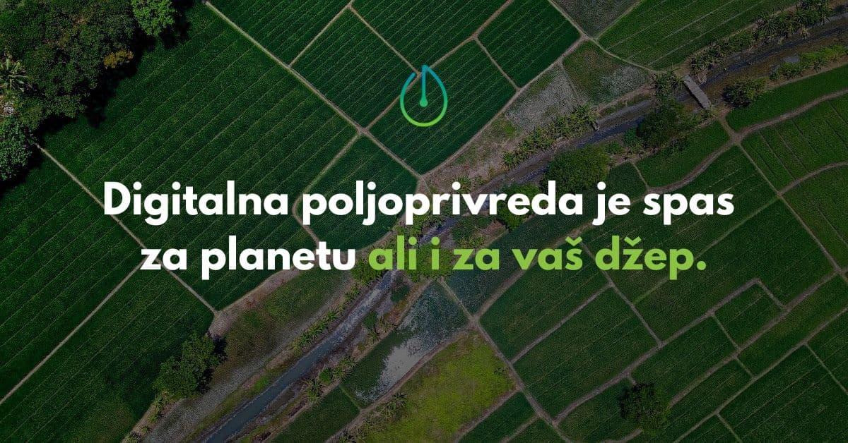 digitalna poljoprivreda, blog baner, smart watering, pametno navodnjavanje